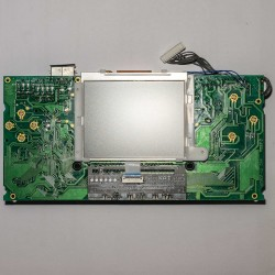 A Magic Screen installed on a Game Gear model VA1 main board. Screen side.